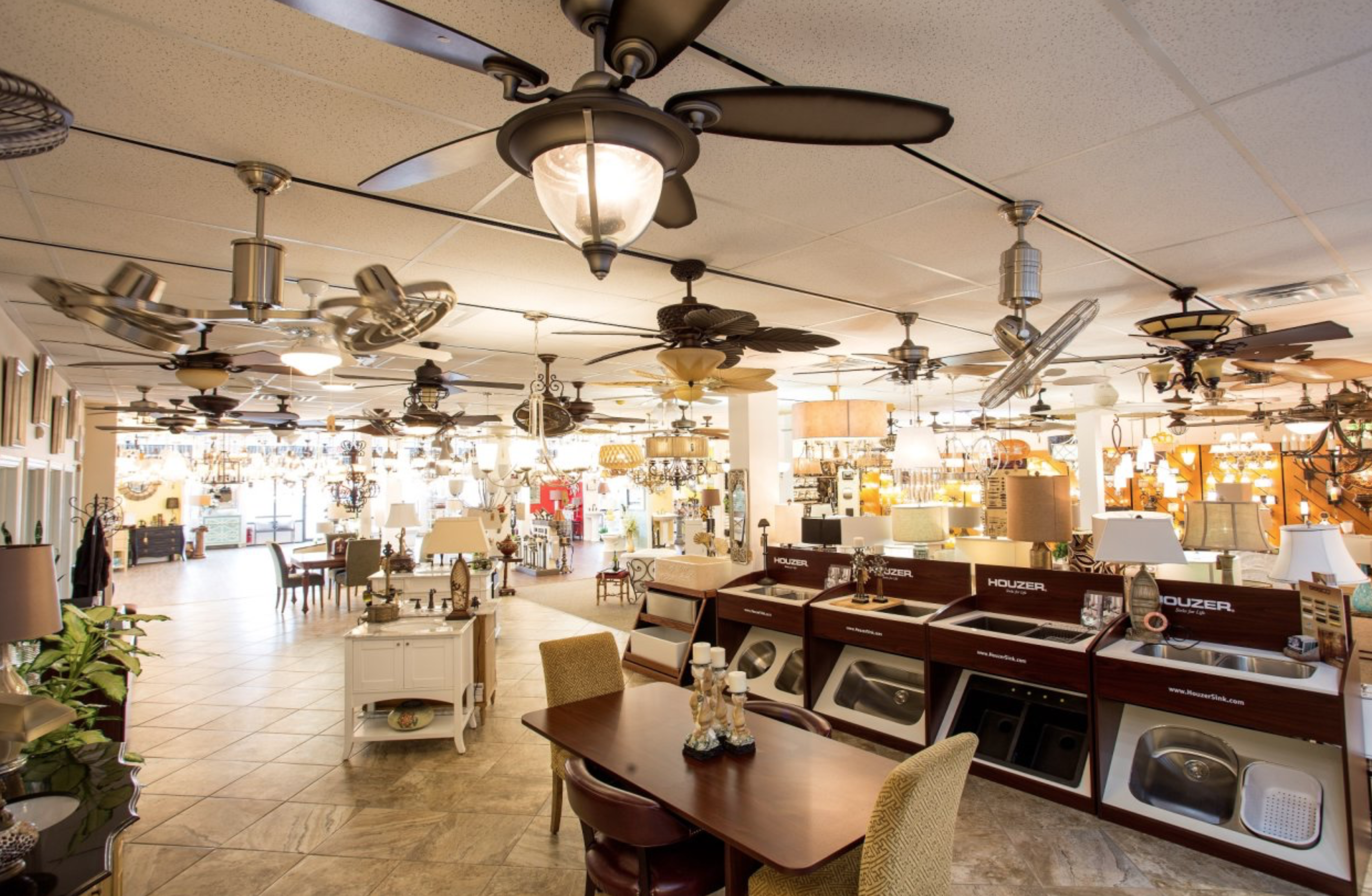 We have two lighting showrooms representing the Carolinas
